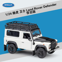 Welly 1:24 Diecast alloy car model Toys For Land Rover Range Defender with Steering wheel control with Original Box For Kid Gift