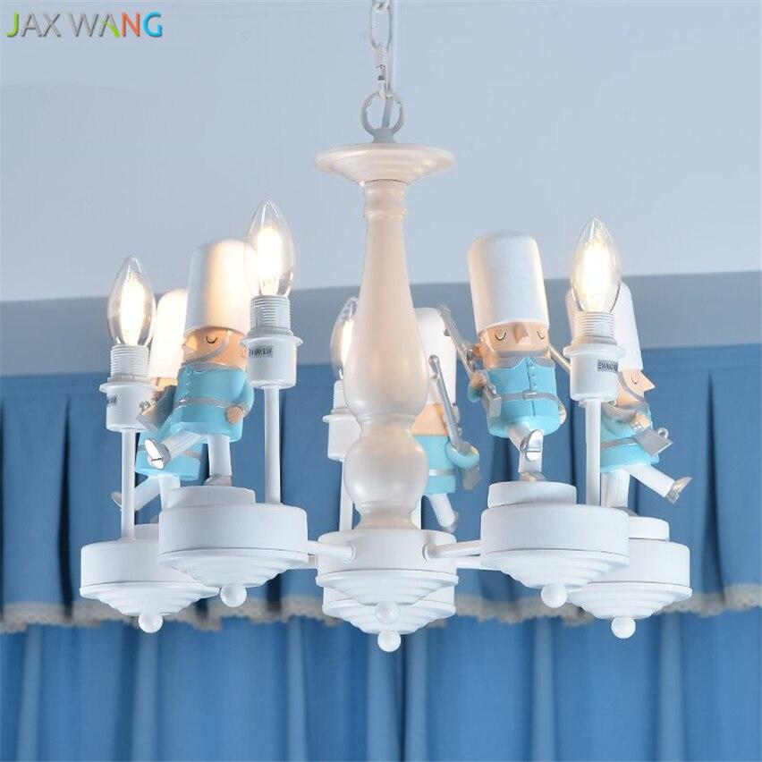Скандинавский современный британский солдат подвесные светильники светодиодные подвесные лампы детская комната спальня мальчика девочки осветительные приборы для внутреннего использования Декор
