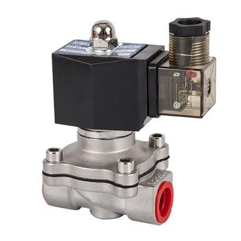 цена на DN15 to 50,Normally closed solenoid valve, 304 stainless steel water oil valves,Moisture proof,AC 110V 220V 380V 24V,DC 12V 24V