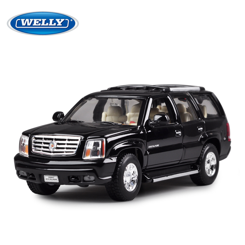 Welly Cadillac Escalade 1:24 Diecast Model Cars Collection Toy Gift лампа для чтения iculed 14pcs 12v cadillac escalade 02 06