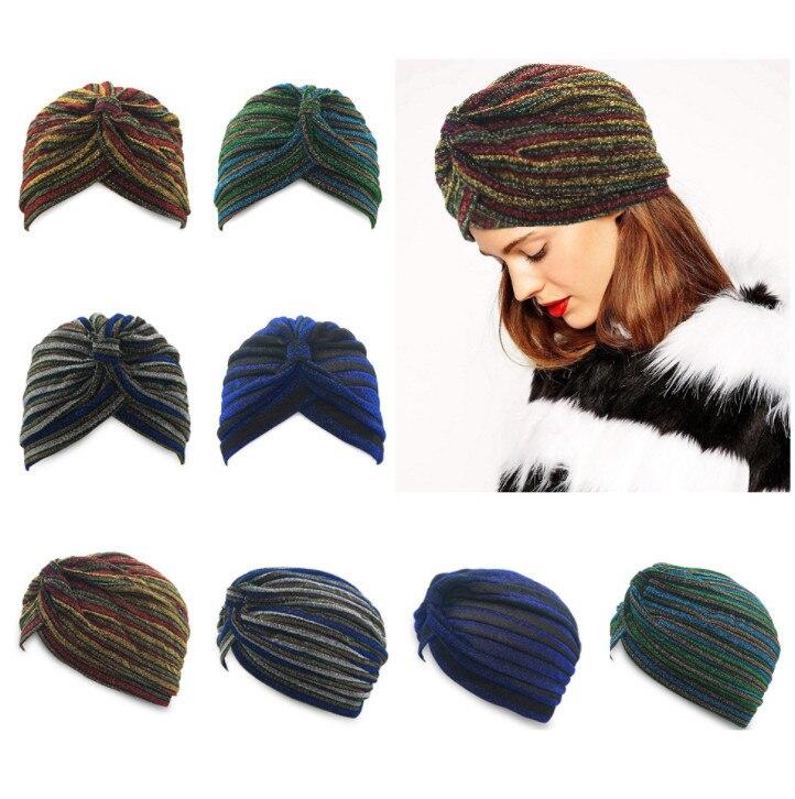 100pcs  Folding Pile Cap  Muslim Baotou Hat Women'S Makeup Headscarf Cap