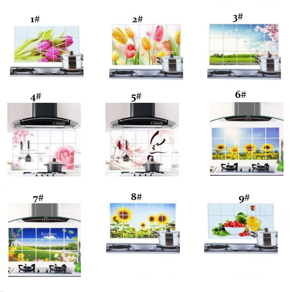 Kitchen Wall Groupings: 75cmX45cm Oil Sticker Various Korea High Temperature
