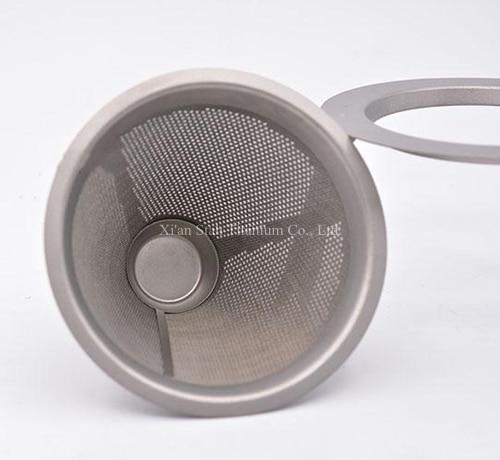 Pure Titanium Enkele Muur 950 ml Koffie Maker 230g + Filter + 3 stks 100 ml Dubbele Wand Mokken 49 g/stk Gezonde Geen nemende Anti corrosie - 4