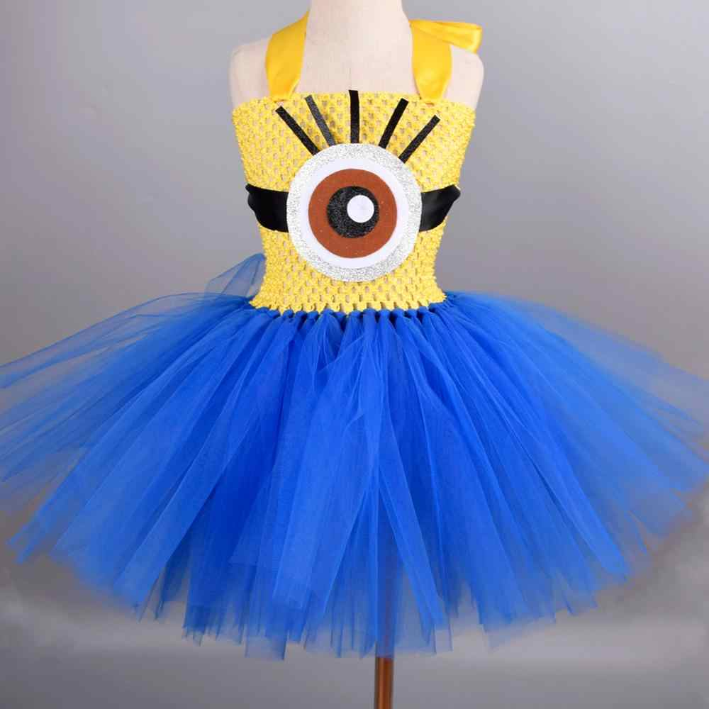 Girls Kids Cute Cartoon Dress Up Party Fancy Costume Cosplay Tulle Tutu Skirt