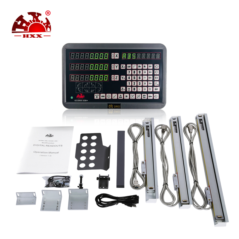 Precision Instruments Optical Lenses 3 Axis Dro Kits GCS900 3DB Lathe Digital Readout And Linear Scales