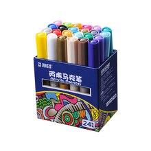 12/24PCS STA 1000 Acrylic Marker Pen Hand Drawn Color Paintbrush Graffiti Marker