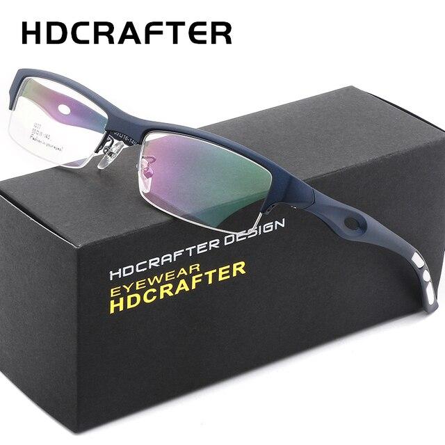 1ac132e2fb HDCRAFTER Myopia Sports Glasses Frame Man tr90 optical eyewear frames  computer reading glasses frame