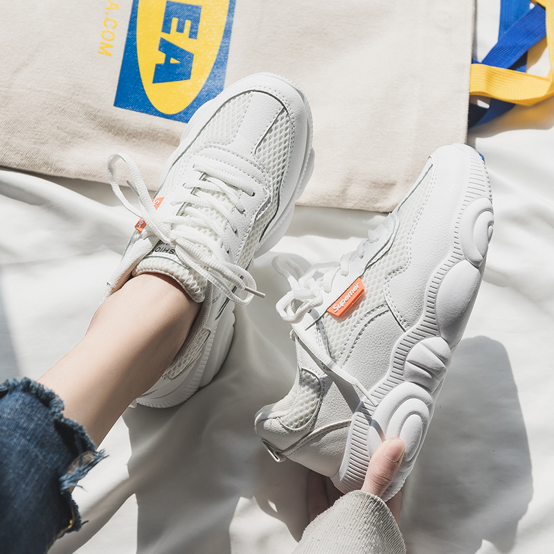 Women shoes summer sneakers bench femme tenis feminino platform white shoes Lace hollow dad sneakers women sneakers 2019 in Women 39 s Vulcanize Shoes from Shoes
