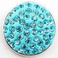 D01736 mais barato strass botão pulseira pressão Rivca botão de pressão para 18 mm pulseira jóias