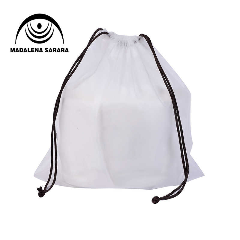 MADALENA SARARA Pouch Transparent Bag Jewelry Storage Case Plastic Bag With Cord Zipper Make Up Bath Organizer Travel Bag OEM
