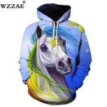 Единорог Лошадь Толстовки с принтом 3D кофты Для мужчин Для женщин пуловер унисекс 6XL костюмы плюс расширить качества карман куртки новое пальто