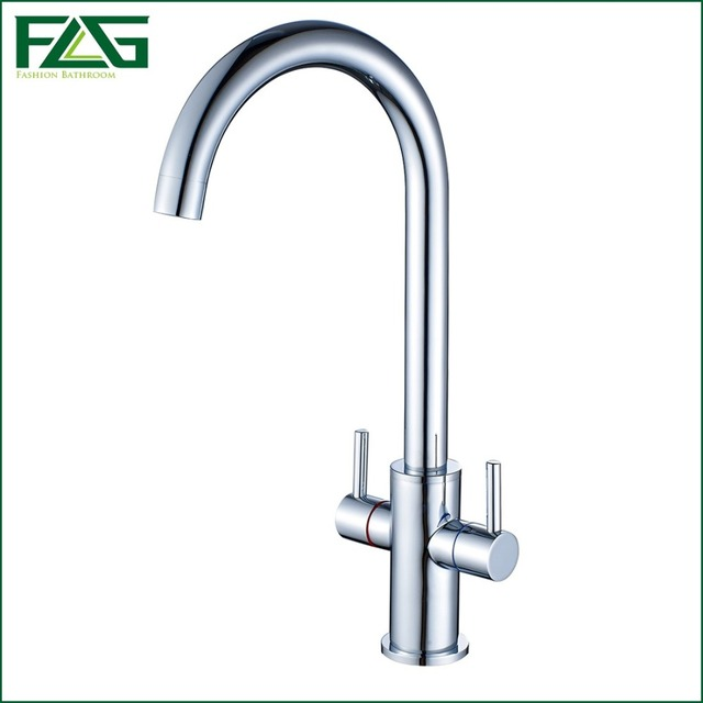 House Scenery Tap Good Quality Kitchen Faucet Chrome Finishing 360 Degree  Rotating Dual Holder Single Hole