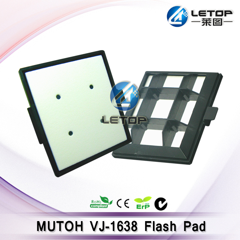 1pcs printer parts flash pads for mutoh vj1638 solvent high quality mutoh vj 1638 spray flash pads for mutoh eco solvent printer