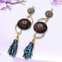 European And American Fashion Drop Big Crystal Drop Earrings Dangling Long Statement Earrings Women Jewelry
