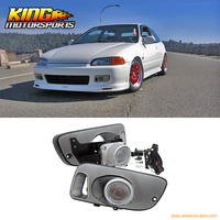 Fit For 92 95 Honda Civic 3Dr JDM Clear Fog Lights With Switch USA Domestic Free