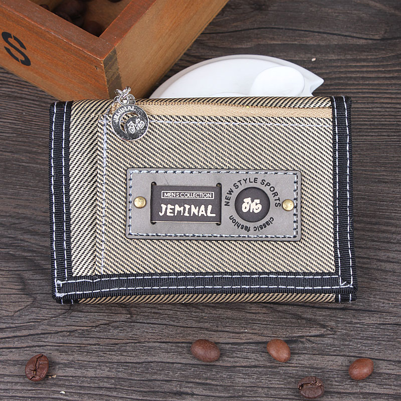 Good Quality Men Wallets Canvas Fabric Short Clutch Purses Male Moneybags Coin Purse Pocket Wallet Cards ID Holder Bags Notecase