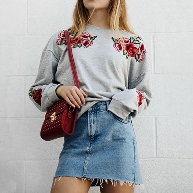 Зимние Для женщин Повседневное свободные Цветочные пуловер с длинными рукавами Топы с капюшоном