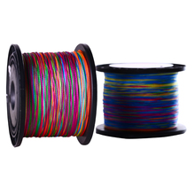 Sougayilang Brand High Quality 500M 4 Strands Multifilament PE Braided Fishing Line Multicolor Fishing Line 0.4-8.0# 12-72LB