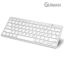 Jerman Arab Bluetooth Keyboard dengan Tata Letak QWERTZ Wireless Keyboard untuk Apple iPad iPhone Samsung Ordinateur Portabel(China)
