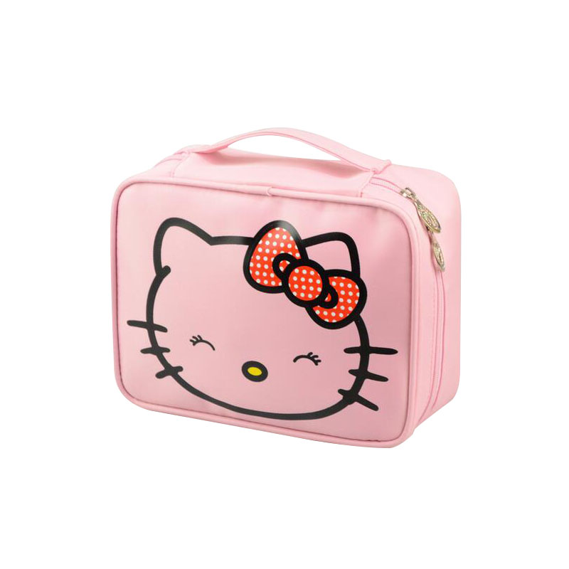 1e8acce4dd2a Detail Feedback Questions about Waterproof Cosmetic Bag Cute Makeup  Organizer Case Travel Hello Kitty Beautician Beauty Suitcase Accessories  Supplies ...
