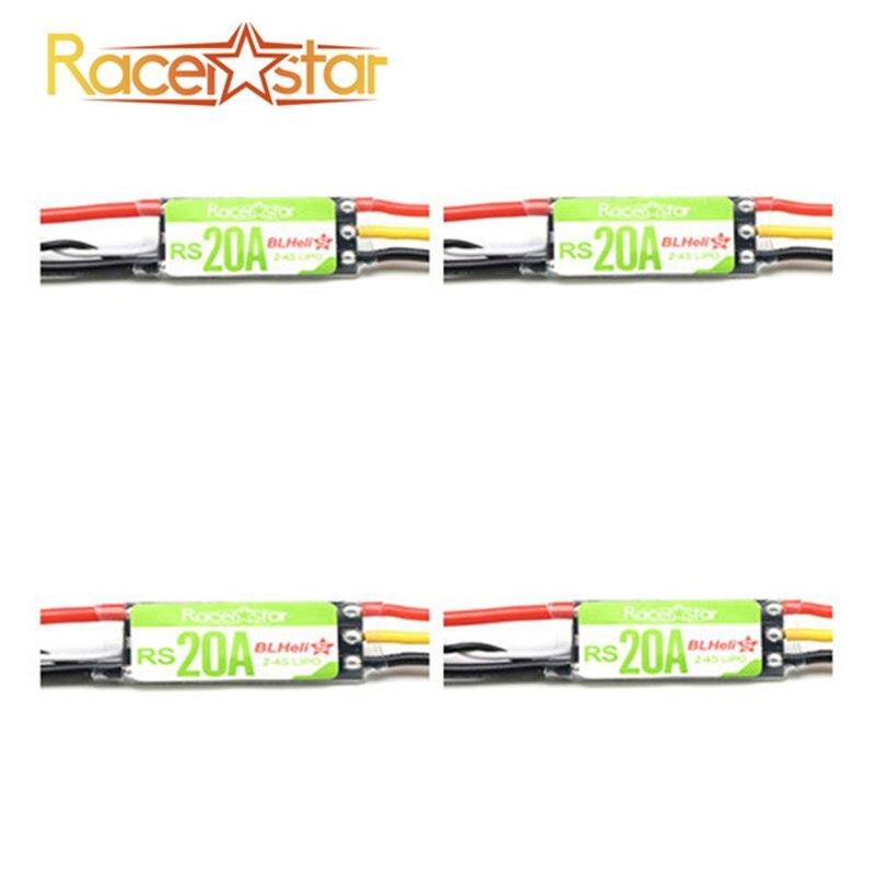 Nuevo 4X Racerstar RS20A 20A BLHELI_S dispositivos optoelectrónicos 2-4 s ESC soporte Oneshot42 Multishot para FPV Racing