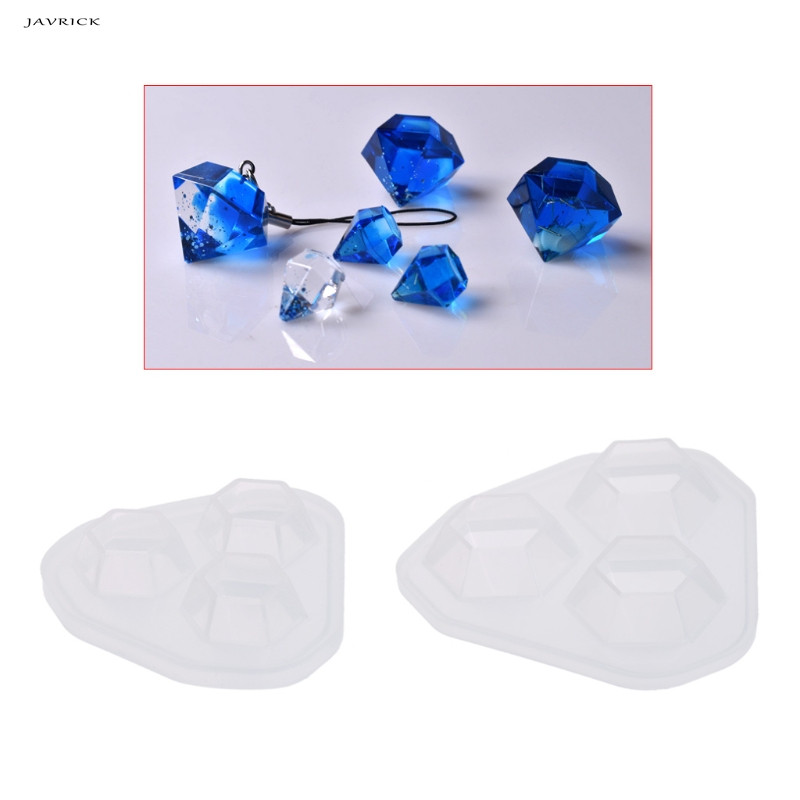 JAVRICK Transparent Silicone Mold Diamond Shaped Jewelry DIY Cake Decoration Dessert Handmade Tools Resin Molds For Jewelry