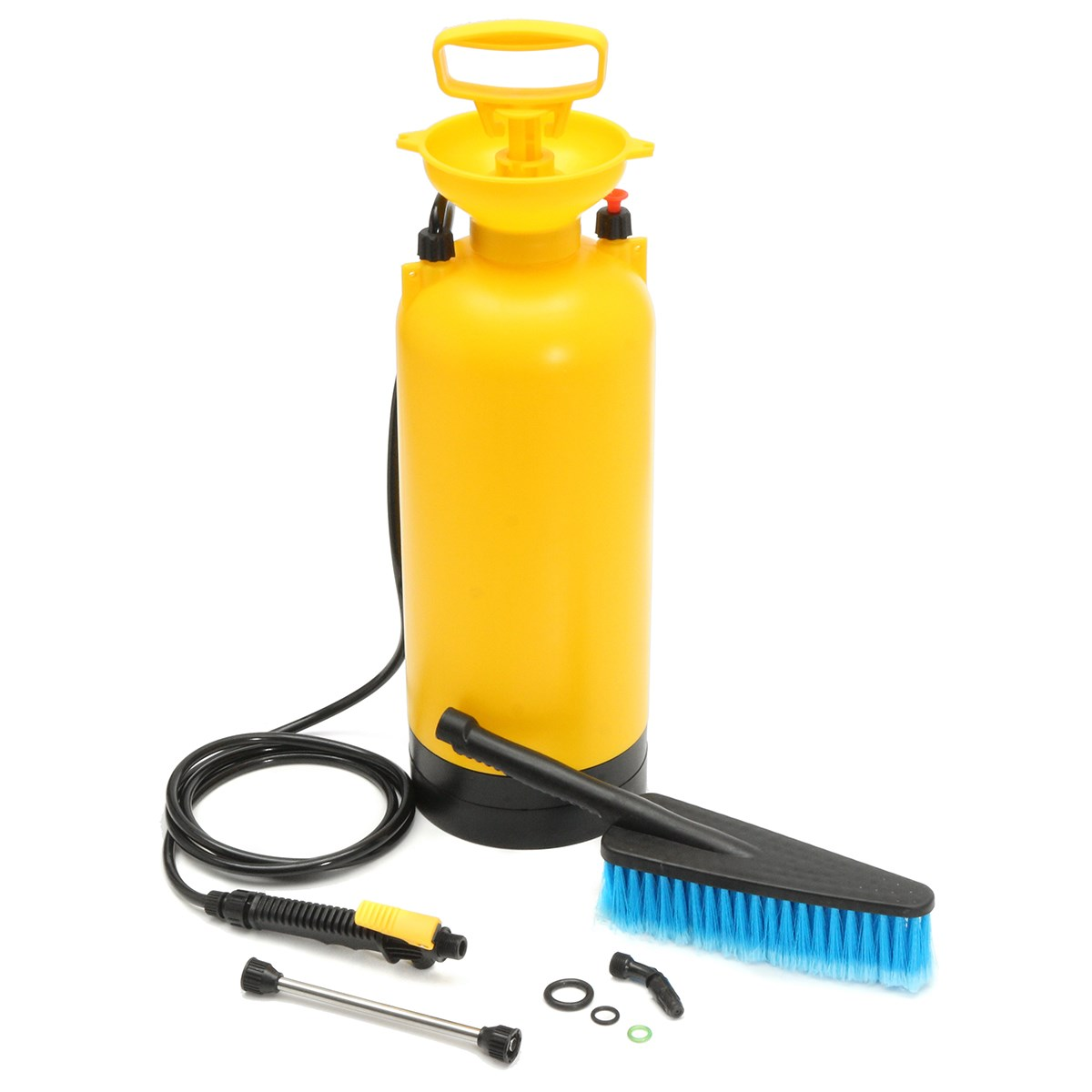 Aliexpress com buy convenient 8l portable pressure washer power pump spray car wash brush hose lance cleaner maintenance tool from reliable portable
