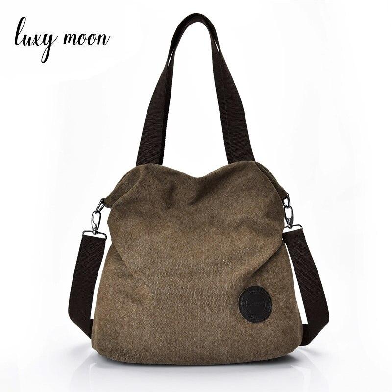 Klasszikus vászon táska táska női kézitáska vászon válltáskák divat alkalmi Messenger táskák nagy nagy kapacitású lady totes ZD637