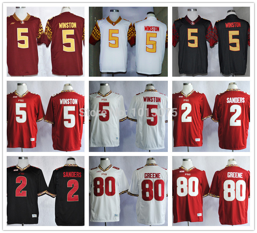 florida state seminoles fsu college jersey jameis winston deion sanders rashad greene rose bowl even
