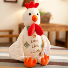 """love live laugh"" cartoon cock chicken plush toy chicken soft doll,baby toy ,birthday present Xmas gift c686"