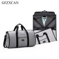 New fitness bag travel shoulder bag waterproof men's clothing bag two in one large suitcase suitcase handbag leisure bag