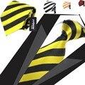 8.5 см мужской галстук ascot полосы шеи галстуки платье рубашку мужчины галстуки колье желтый галстук для мужчин