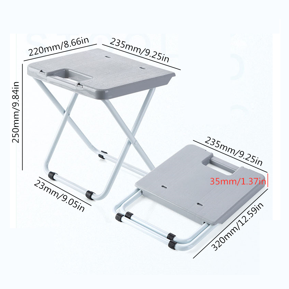 Portable Collapsible Chair Fishing Camping BBQ Stool Folding Seat Garden Ultralight Office Home Furniture