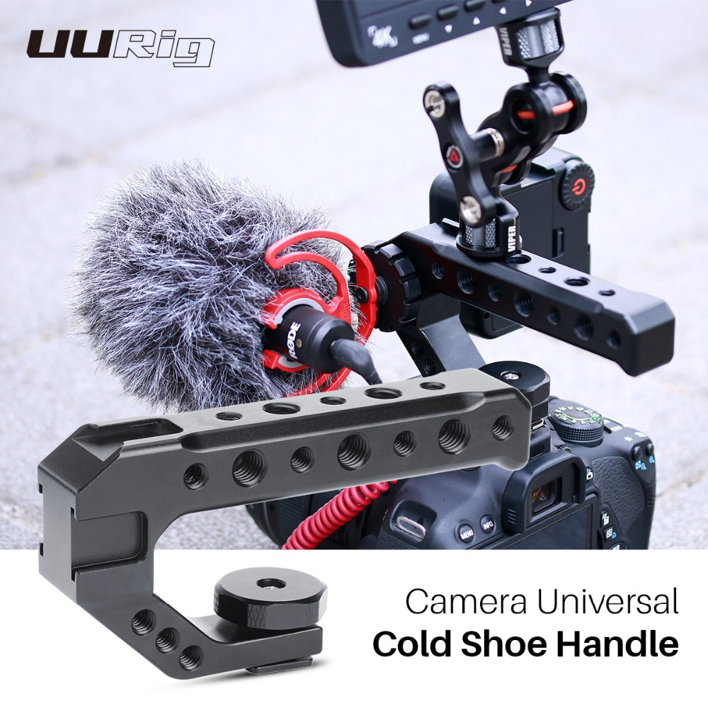 UURig  R005 Camera Universal Cold Shoe Top Handle Hand Grip Rig External Monitor Microphone Fill Light For Nikon Canon Sony DSLR