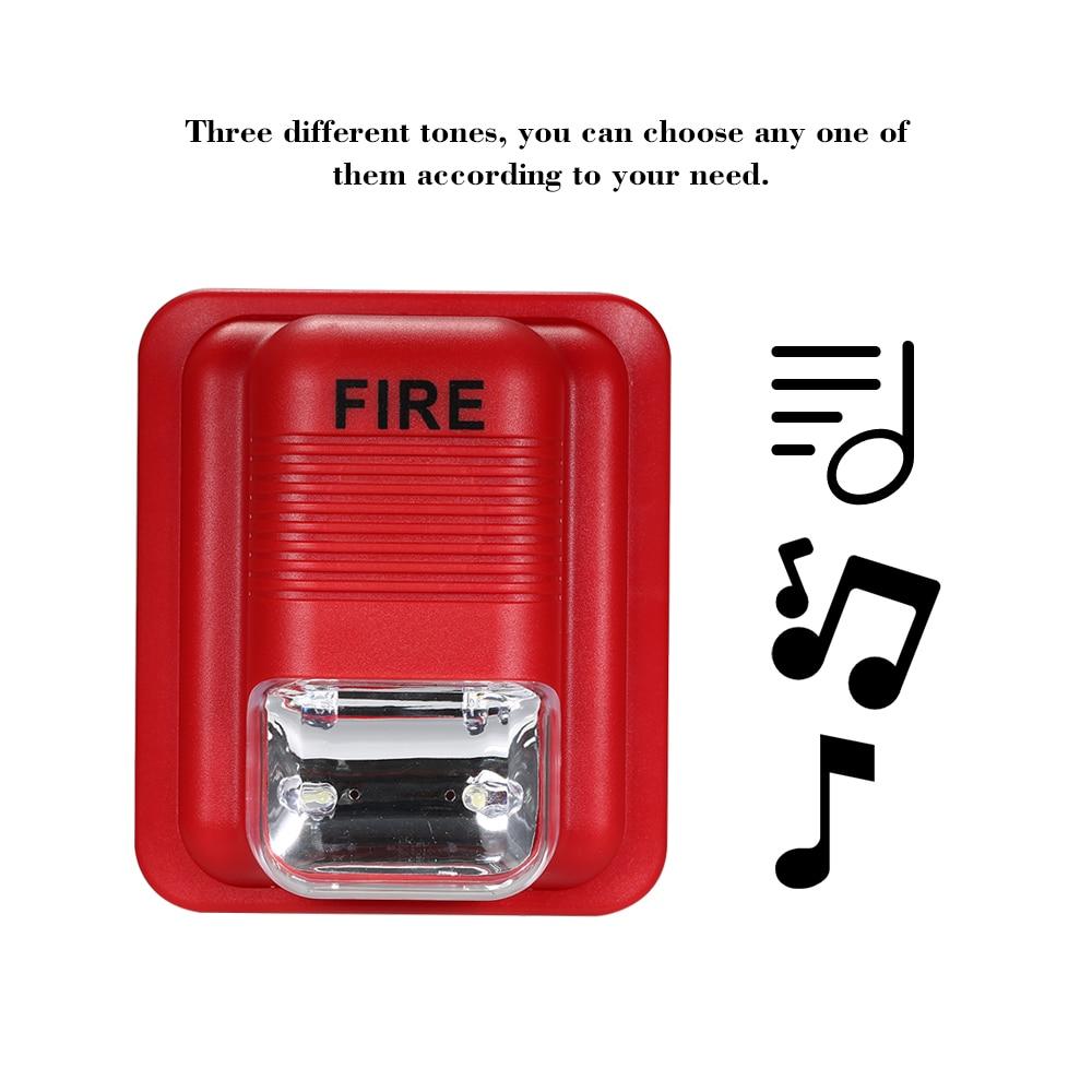 Fire Alarm Warning Strobe Siren Horn Sound & Strobe Alert Security System for Home Office Hotel Restaurant