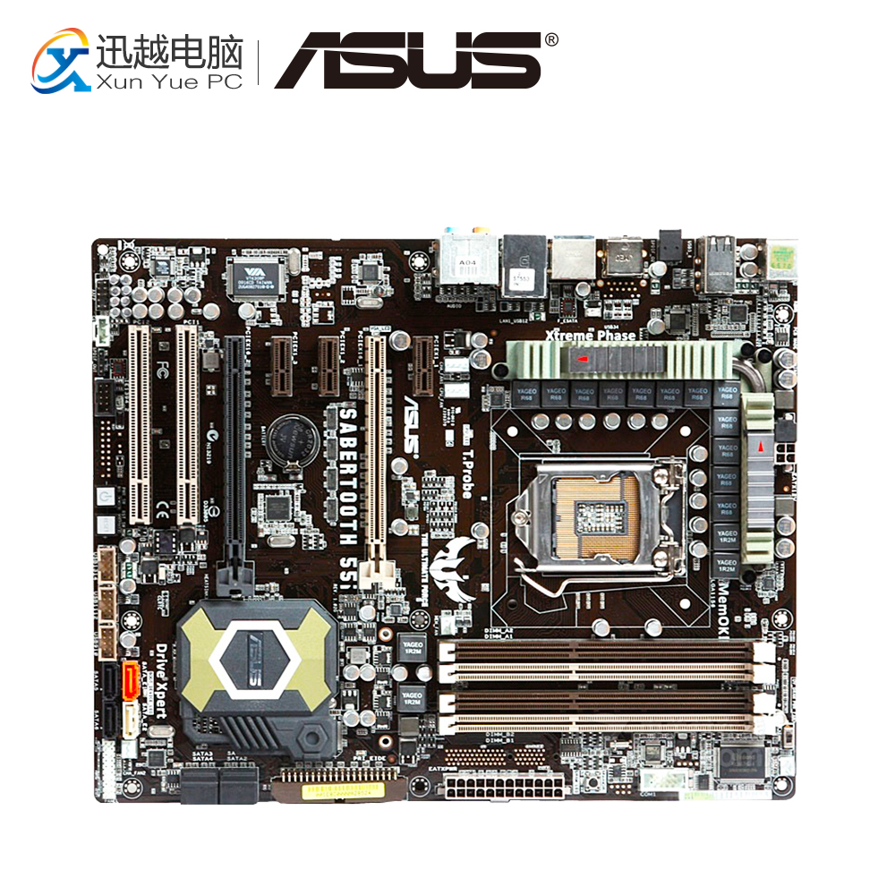 цена на Asus SaberTooth 55i Desktop Motherboard P55 LGA 1156 i5 i7 DDR3 16G SATA3 USB2.0 ATX