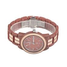 BEWELL Fashion Unisex Alloy Wood Watch Men And Women Luxury Round Quartz Wristwatch 3 Bar Water Risistance Auto Date W1053A