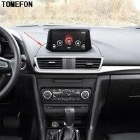 Car Styling 1piece For Mazda 3 M3 Axela 2017 2018 ABS Matte Auto Interior Center Console Cover Navigaion Dashboard Panel Trim