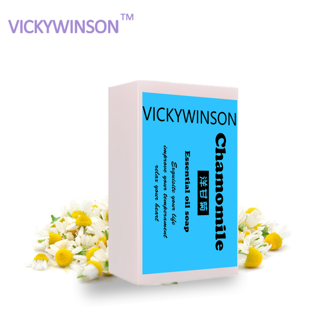 VICKYWINSON Natural Chamomile essential oil soap bath chamomile handmade soap handmade soap Shrink pores Cold XZ11