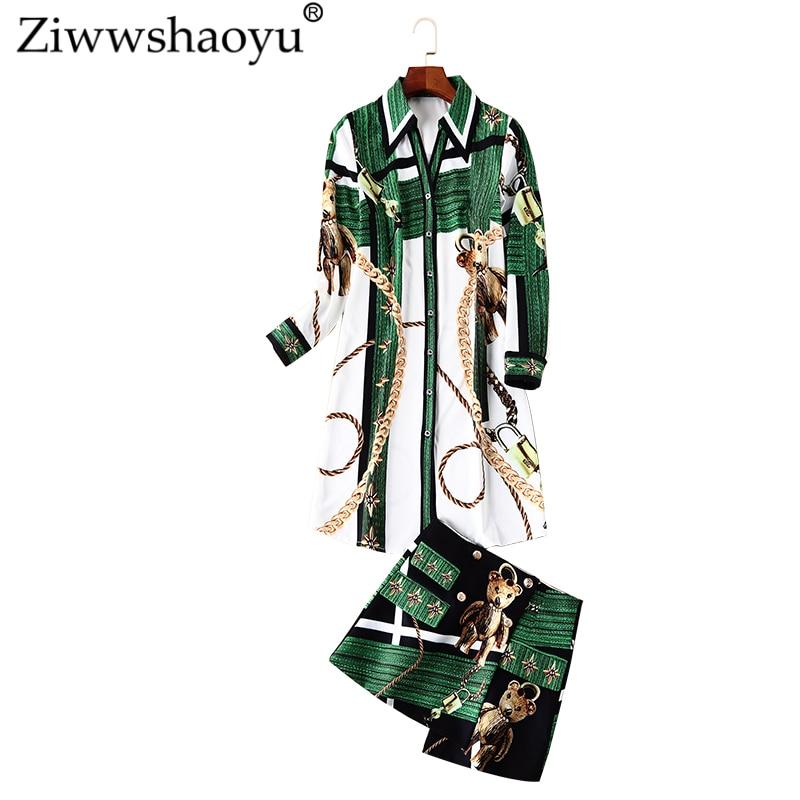8396121286eeb1b Ziwwshaoyu высокое уличное Платье с принтом из мультфильмов платье с  отложным воротником и поясом трапециевидной формы