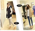 Large size fall and winter long down coats cotton pregnant outwear women fashion hooded vest jacket