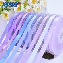 Yama 5 мм 300 ярдов/лот односторонняя атласная лента фиолетовая