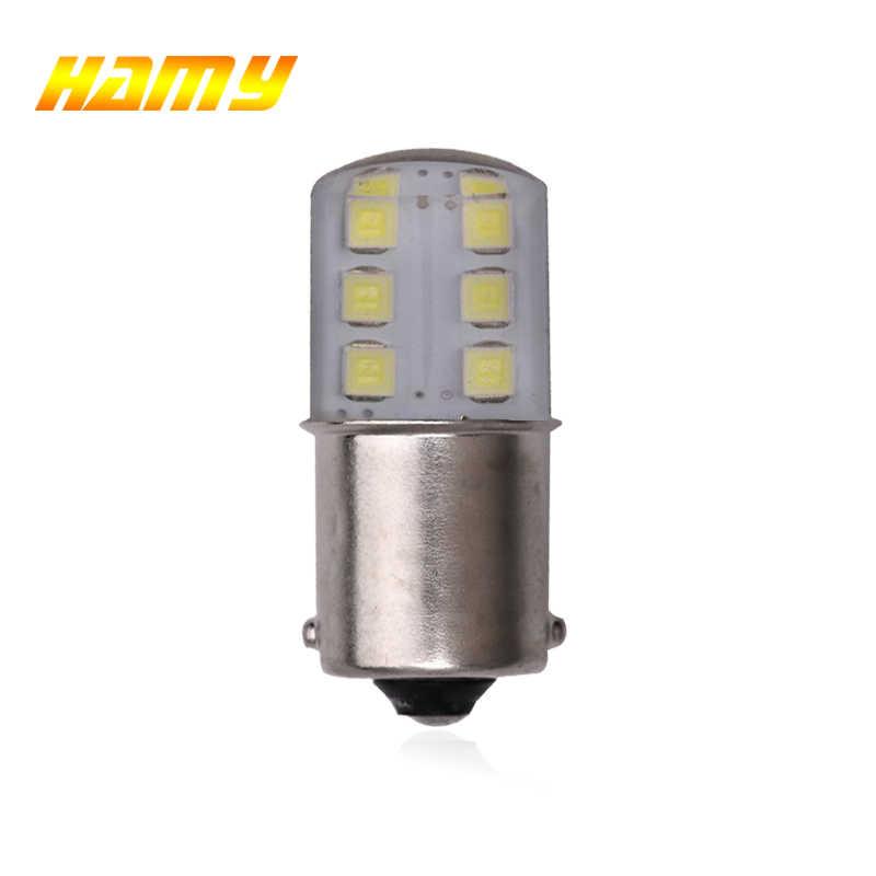 Ampoules de voiture LED, 1x ampoules P21W 1156 Ba15s 1157 Bay15d LED, lumière unique 12V 12SMD, tournant vers l'arrière, lampe de freins, Parking, blanche, rouge, jaune