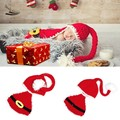 2016 New Newborn Infant Baby Santa Christmas Crochet Knitted Wool Hat Beanie Photography Props Outfits Red 0-6 Months