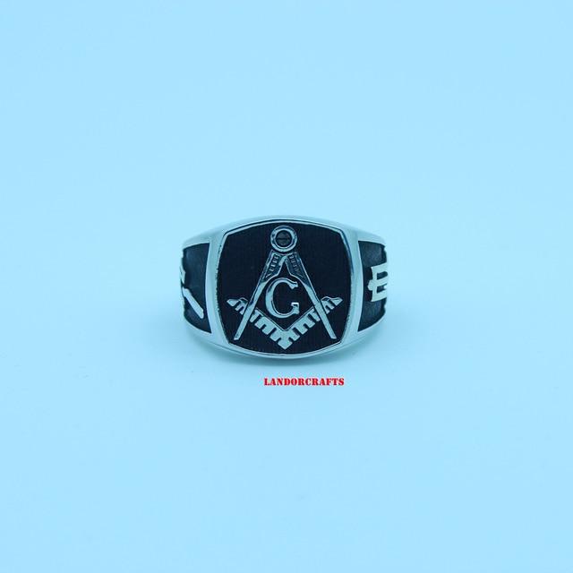 Vintage Freemason Symbol Master Mason Sterling Silver Custom Ring In