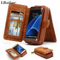 LRuiize Retro Multifunctionele Portemonnee Lederen Mobiele Telefoon Case Cover Bumper Case Pouch Voor Samsung Note 8 5 S8 S7 S6/Edge/Plus S5S4