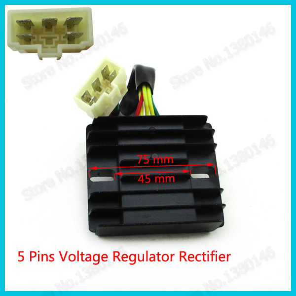 3 Phase Voltage Regulator Rectifier 5 Pin For Linhai 260