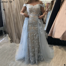 SERENE HILL Blue Sleeveless A-Line Evening Dresses 2019