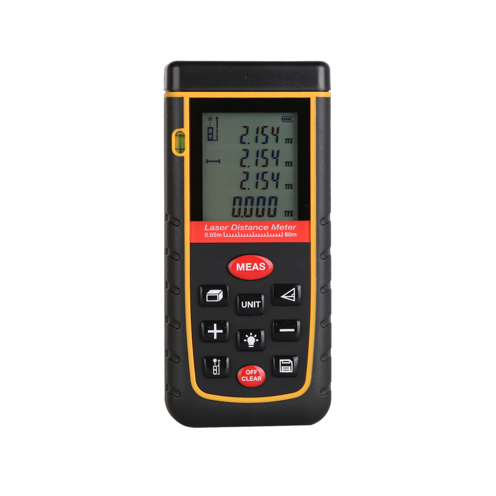 Digital Laser distance meter Bigger Bubble level tool Rangefinder Range finder Tape measure 80m Area/Volume Angle Tester цена