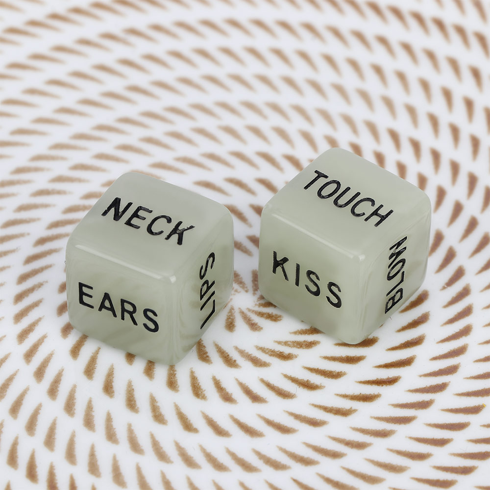 2 Pcs Funny Sex Dice Glow In The Dark Romance Love Humour Party Adult Games For Couples